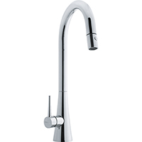 Franke FF2500 Just Series Pull-Down Kitchen Faucet with Side Lever, 1.75gpm (Polished Chrome)
