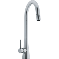 Franke FF2580 Just Series Pull-Down Kitchen Faucet with Side Lever, 1.75gpm (Satin Nickel)